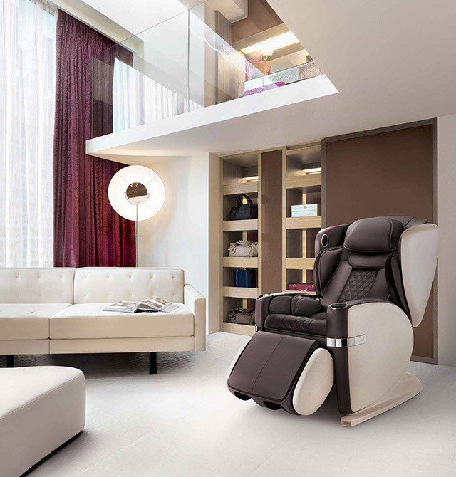 Ulove Massage Chair Slide 3 Brown Color Mobile