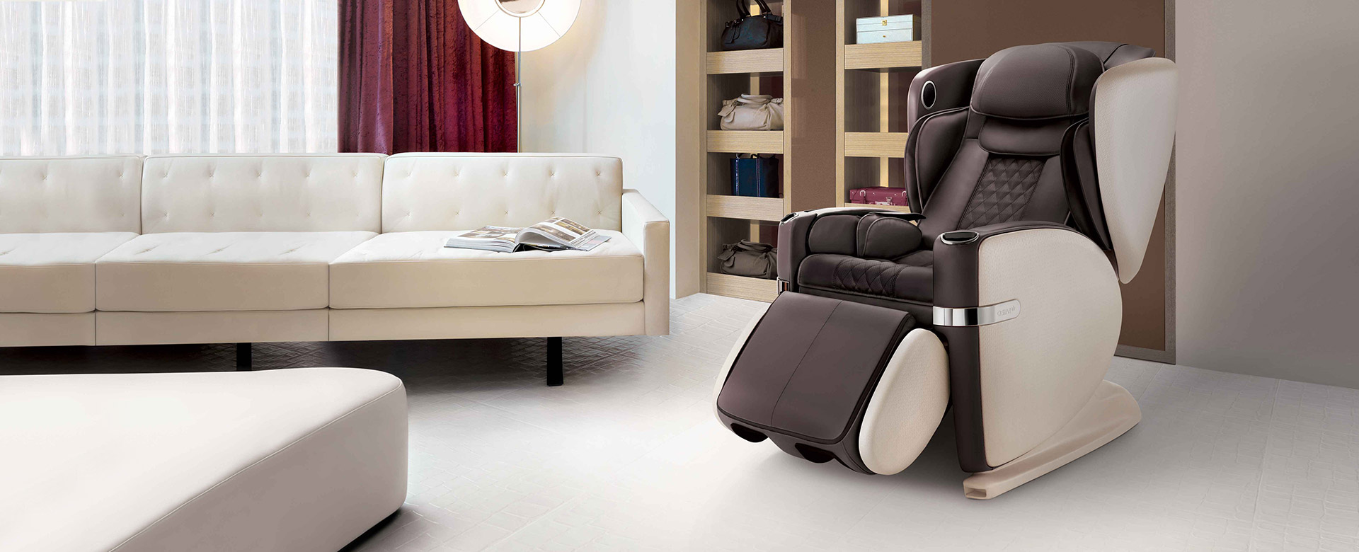Ulove Massage Chair Slide 3 Brown Color