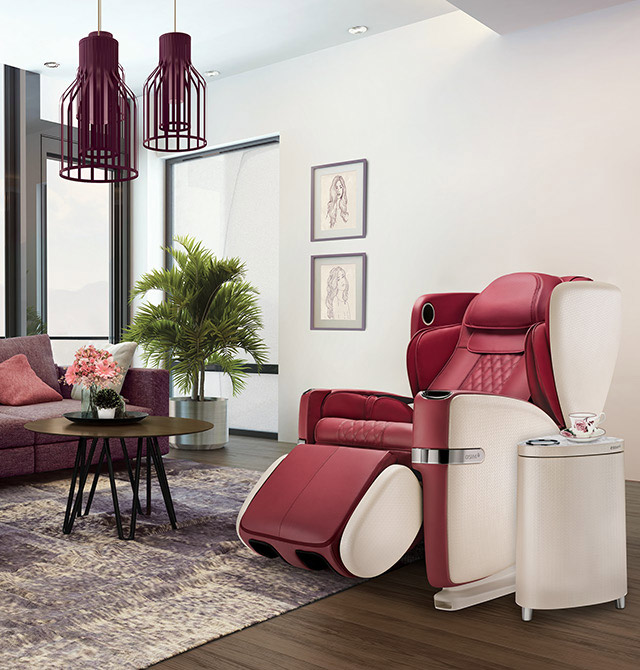Ulove Massage Chair Slide 5 Red Color Mobile