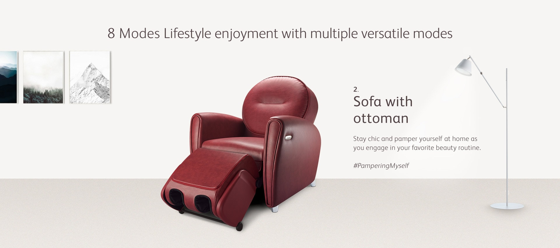 Udiva2 Massage Chair Mode 2 Sofa Ottoman