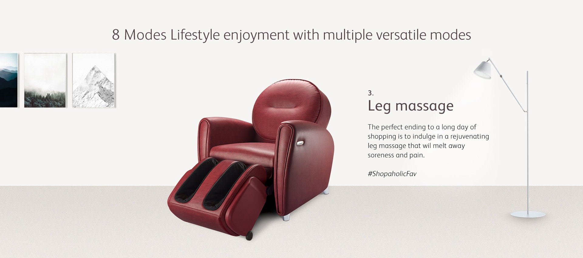 Udiva2 Massage Chair Mode 3 Leg Massager