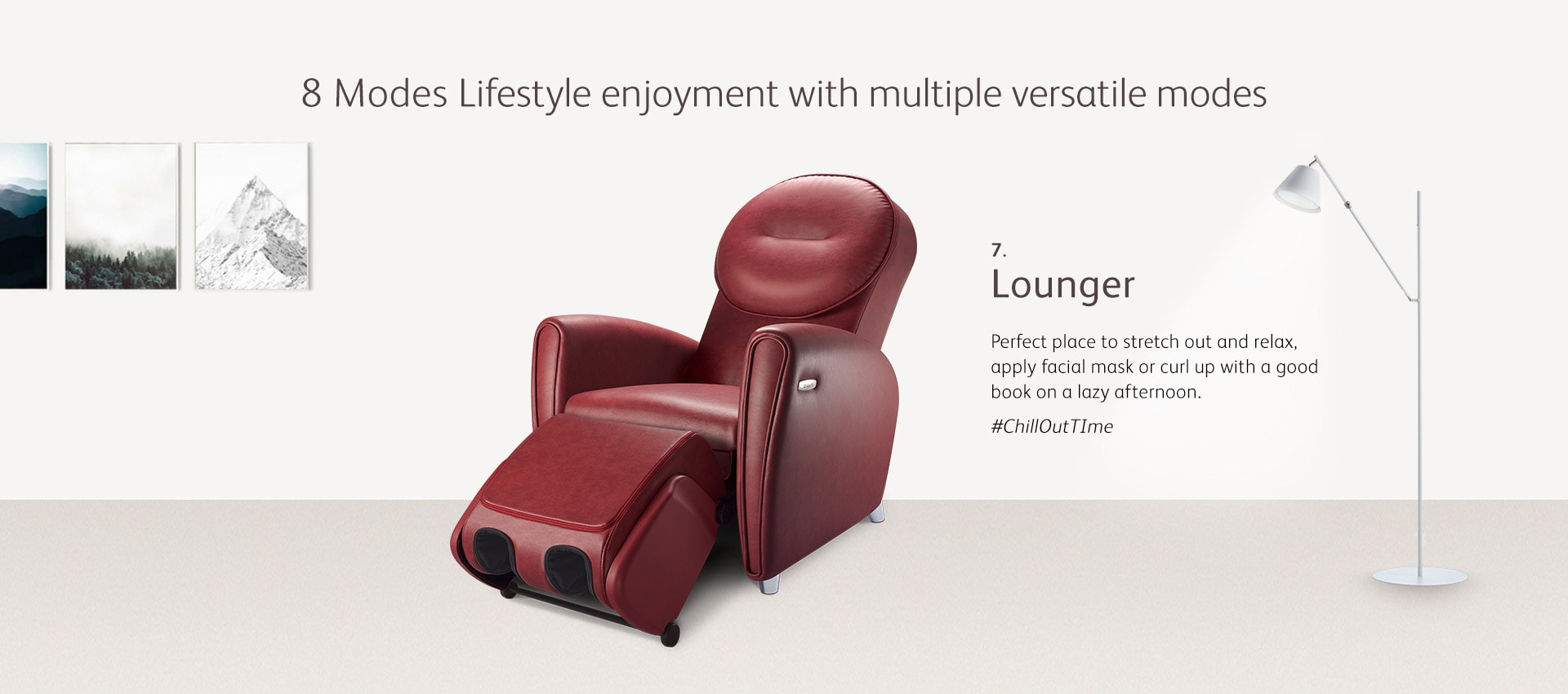 Udiva2 Massage Chair Mode 7 Lounger