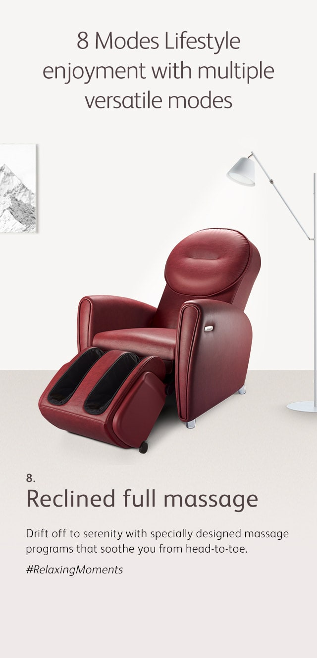 Udiva2 Massage Chair Mode 8 Reclined Full Massage M