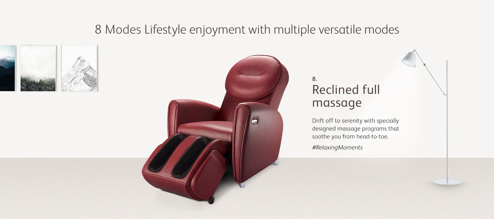 Udiva2 Massage Chair Mode 8 Reclined Full Massage